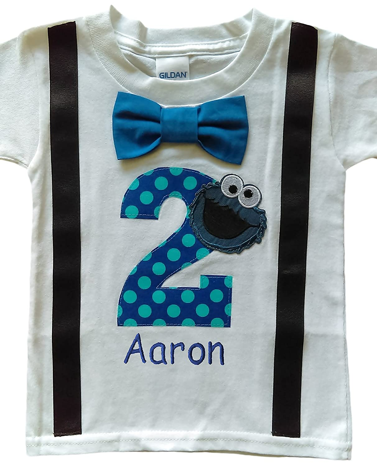 Amazon 2nd Birthday Shirt Boys Cookie Monster Tee