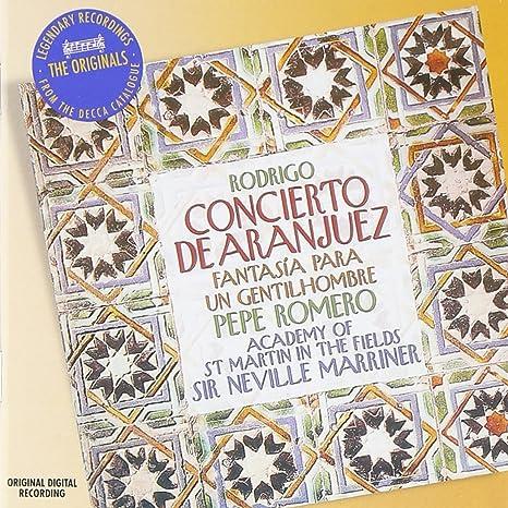 Rodrigo: Concierto de Aranjuez; Fantasia: Pepe Romero: Amazon.es ...