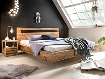 Woodkings Holz Bett 180x200 Marton Doppelbett recycelte Pinie ...