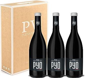 Vino Tinto Rioja Crianza con 18 meses en barrica. Estuche Pack 3 botellas PYO 75cl cosecha 2016.: Amazon.es: Alimentación y bebidas