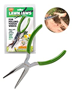 Lawn Jaws The Original Sharktooth Weed Puller Remover Weeding & Gardening Tool Weeder - Pull from The Root Easily!