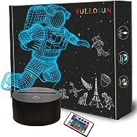 Spaceman 3D-nachtlampje, astronaut, raket, optische illusie, decoratie voor thuis, slaapkamer, licht met…