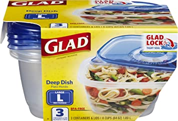 Amazoncom Glad Food Storage Containers Deep Dish Container 64