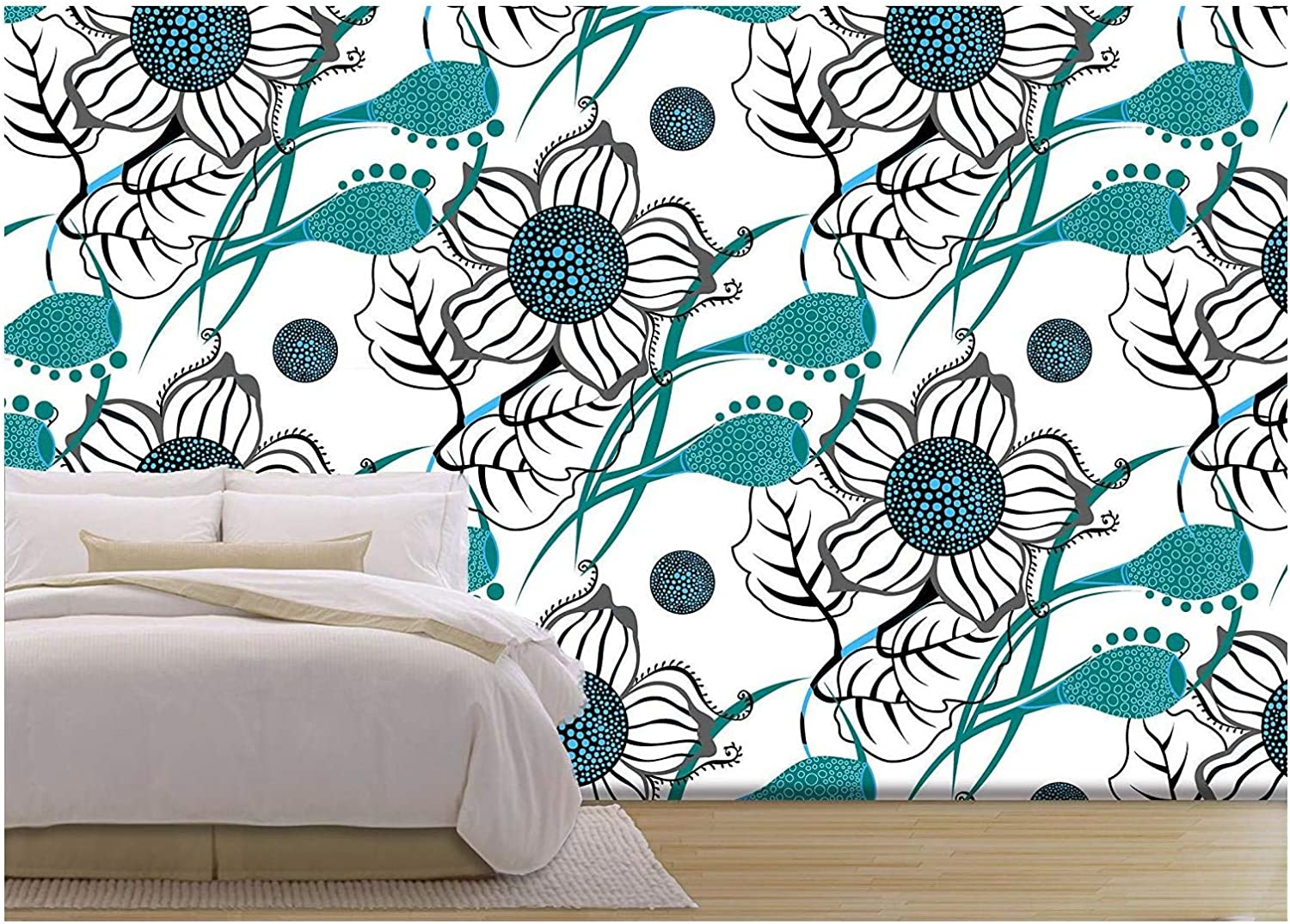 Wall26 Vector Repeating Modern Floral Background Pattern