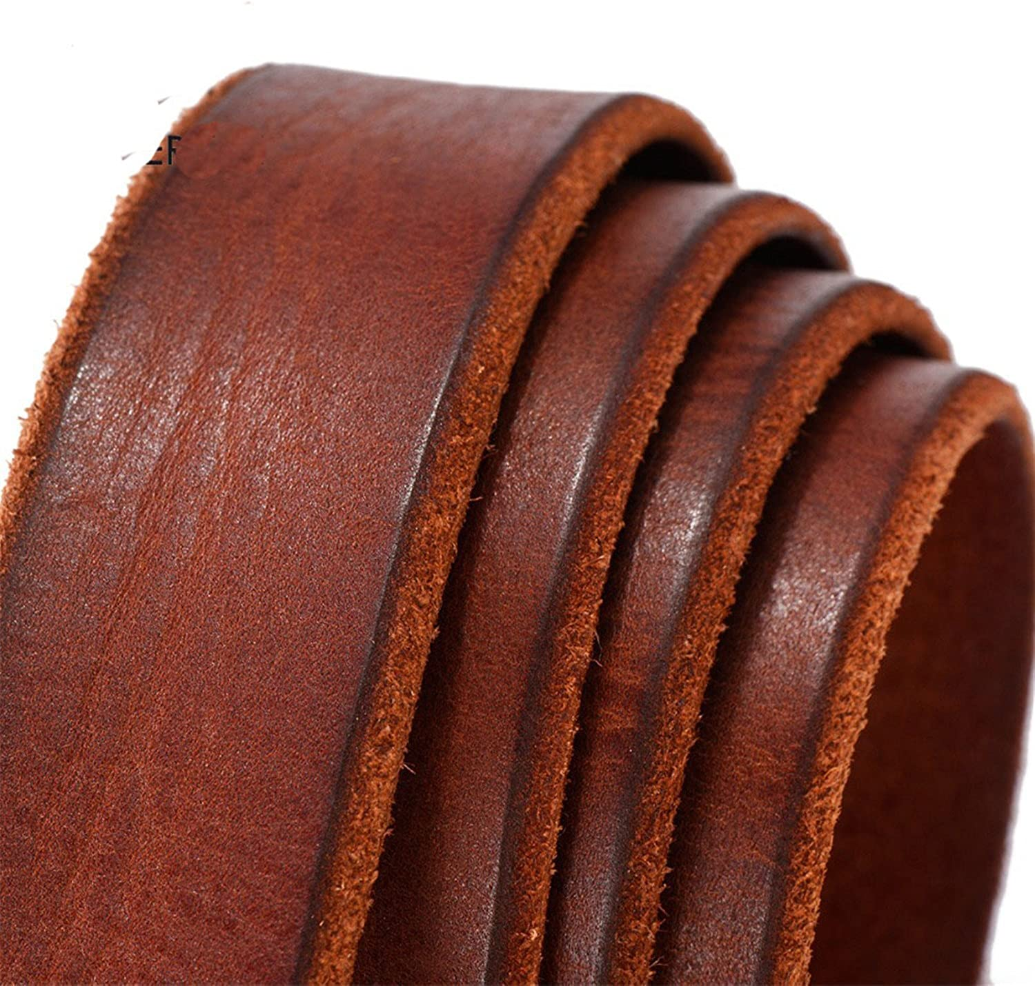 Rising ON Fashion men belt casual vintage belts pin buckle full grain cow leather brown cowhide straps TM008