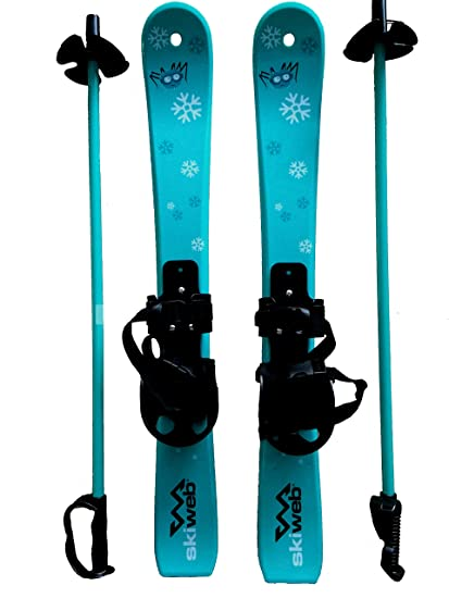 4dd7072b Kids First Plastic Snow Skis & Poles Age 2-4 with Bindings
