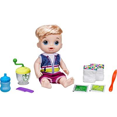 Baby Alive Sweet Spoonfuls Blonde Baby Doll Boy: Toys & Games