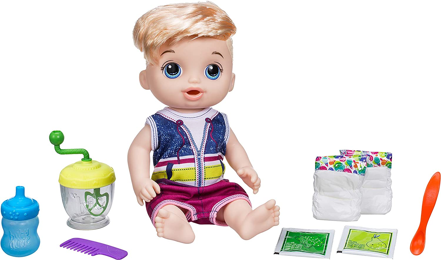 Amazon Com Baby Alive Sweet Spoonfuls Blonde Baby Doll Boy Toys Games