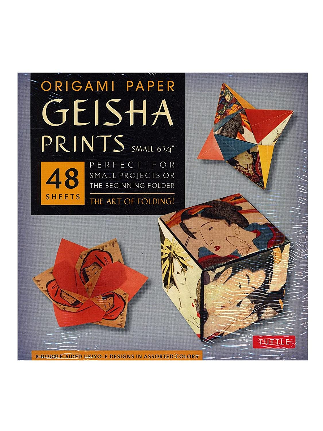 Origami Paper - Samurai Prints - Large 8 1/4' - 48 Sheets: Tuttle Origami Paper: High-Quality Origami Sheets Printed with 8 Different Designs: Instructions for 6 Projects Included Tuttle Publishing 0804843465 ART / Prints CRAFTS & HOBBIES / Origami
