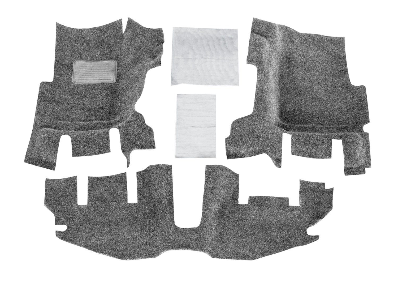 WITH CENTER CONSOLE BedRug Jeep Kit - INCLUDES HEAT SHIELDS BedRug BRTJ97F fits 97-06 TJ//LJ FRONT 3PC FLOOR KIT