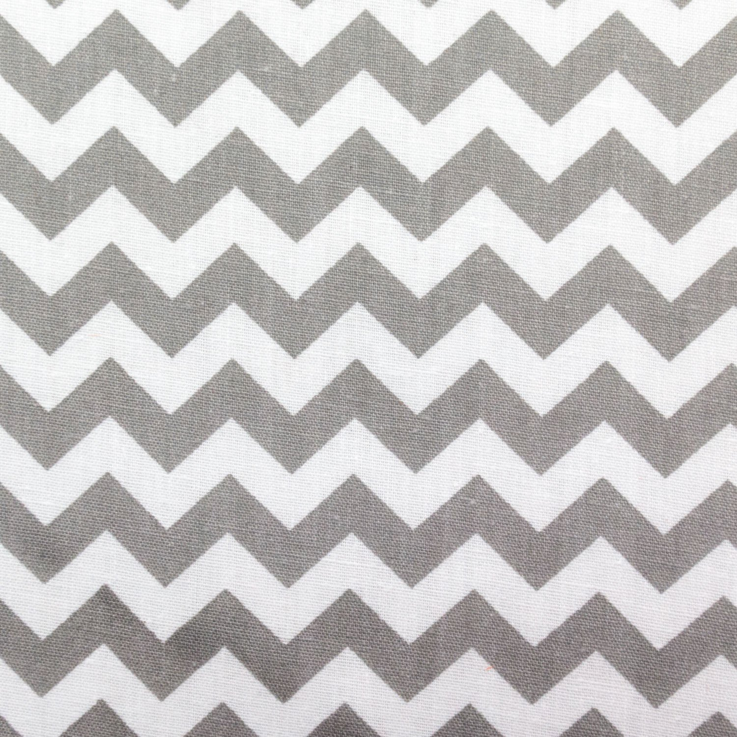 Small Chevron Poly Cotton Gray and White 60 Inch Fabric By the Yard (F.E.) by The Fabric Exchange   B00ZPZSTPI