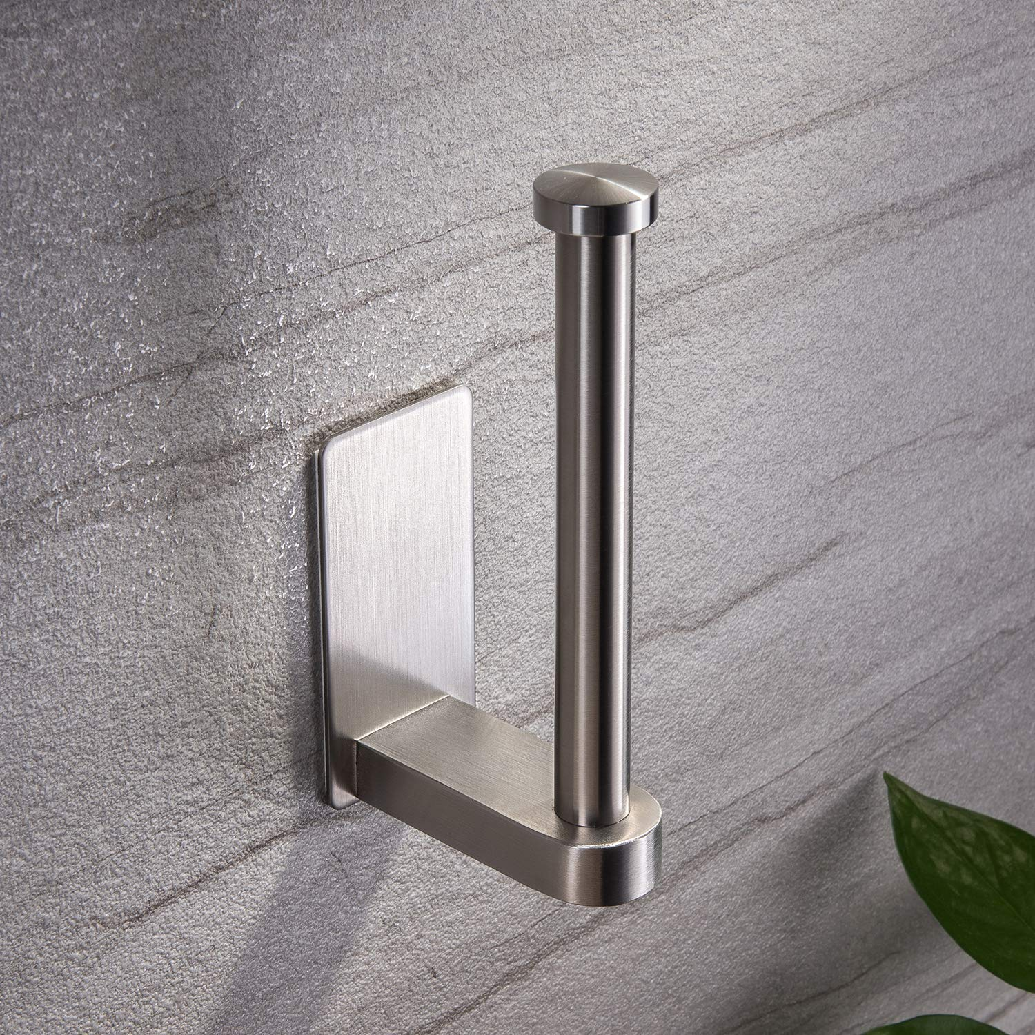 YIGII Self Adhesive Toilet Paper Holder - Bathroom Toilet Paper Holder Stand no Drilling Stainless Steel Brushed by YIGII