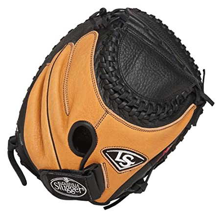 Louisville Slugger 33-Inch FG M2 Softball Catchers Mitts, Brown, Right Hand Throw