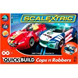 Scalextric C1323T Quickbuild Cops N Robbers 1:32 Slot Car Race Set