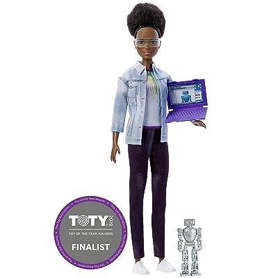 Barbie Métiers de l'année, poupée ingénieure en robotique brune avec coupe afro, jouet pour enfant, FRM10: Toys & Games