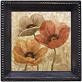 Thirstystone Ambiance Coaster Set, Poppy Allure II, Multicolored