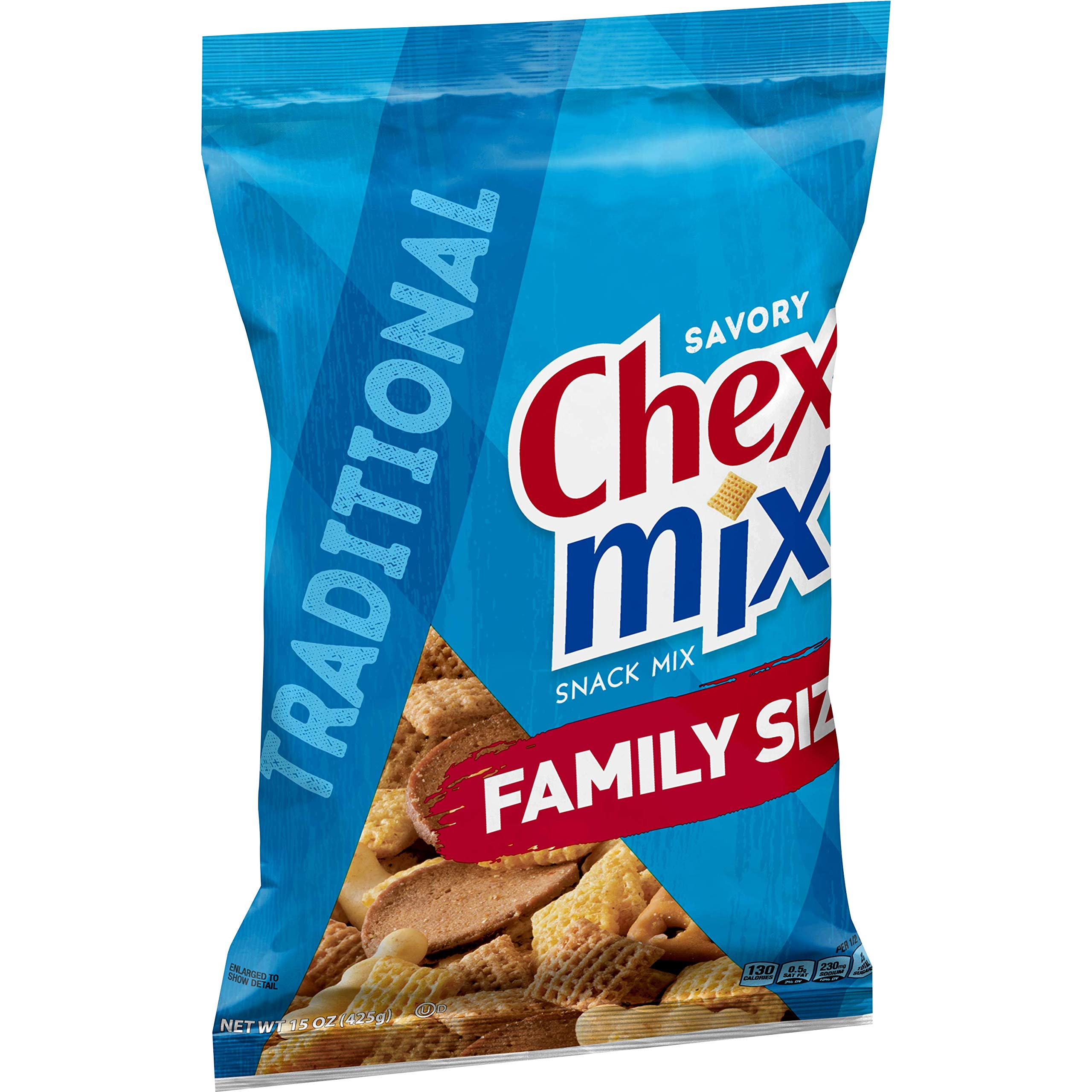 Chex Mix Traditional Savory Snack Mix 15 oz