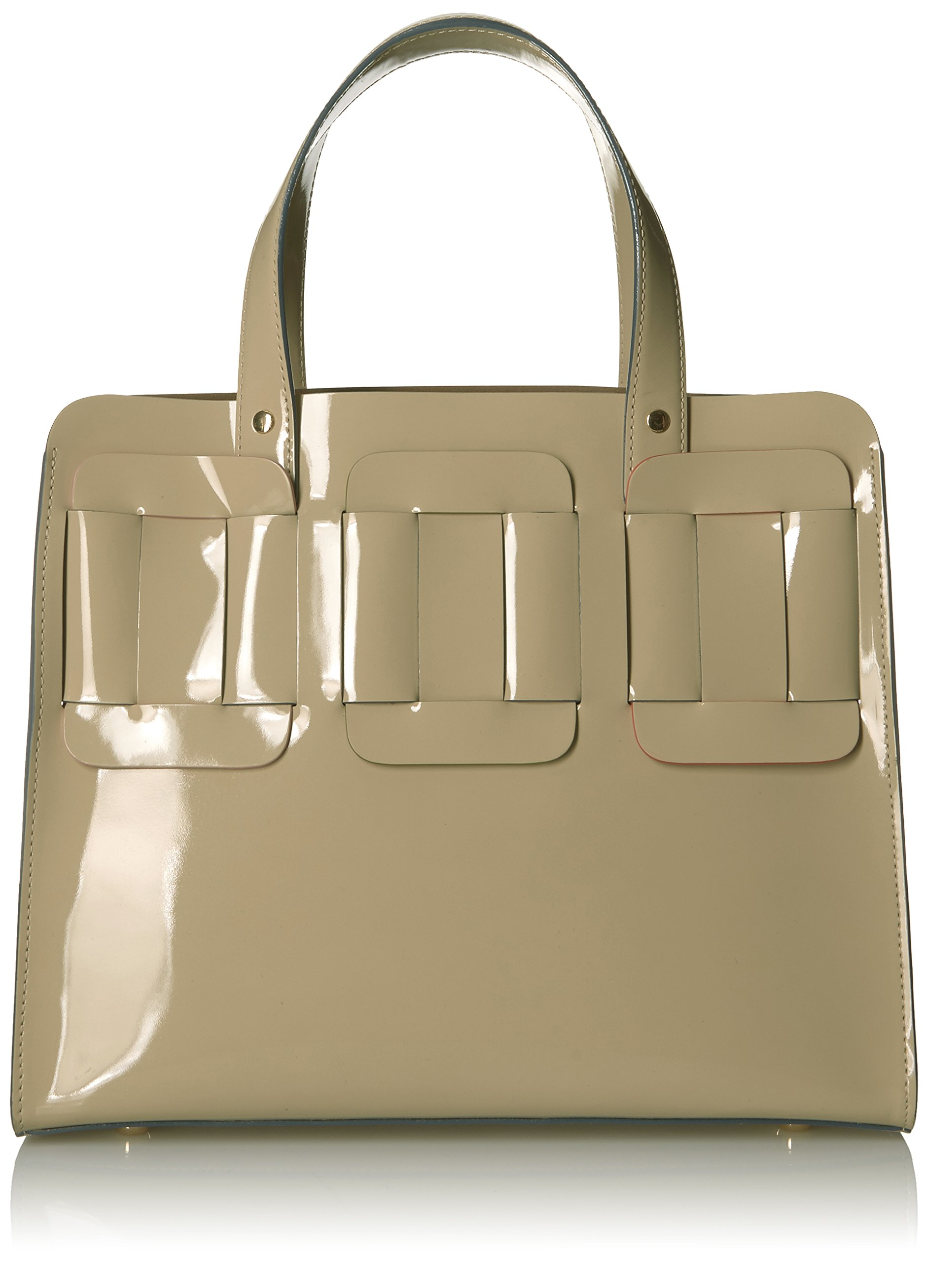 Orla Kiely Glass Leather Linked Margot Bag, Cream by Orla Kiely