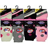 Womens Thermal Socks Ladies Winter Sock Pattern Assorted Colours Size 4-7 UK Pack of 12 Pairs