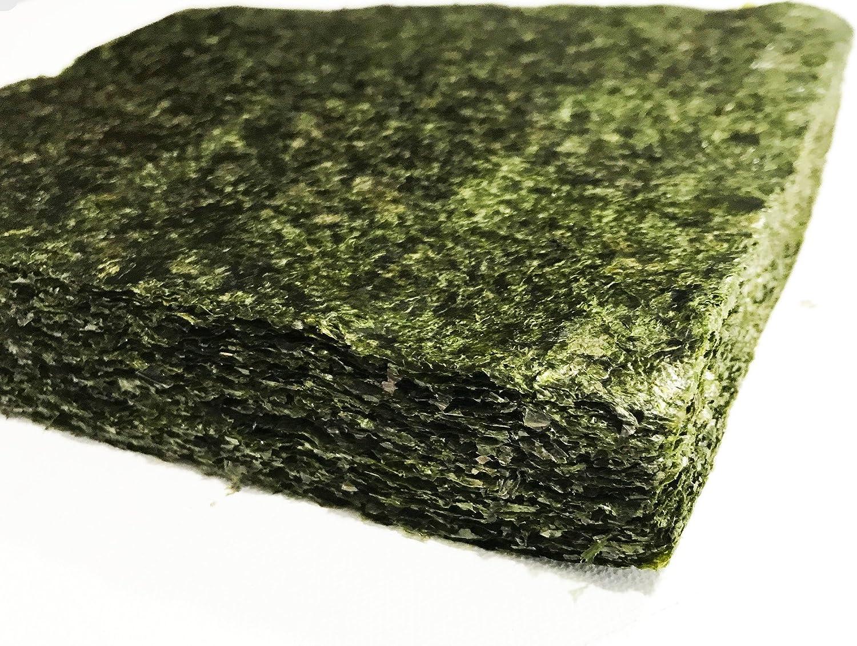Far Edge Aquatics Bulk Green Seaweed for Fish - Extra Large Sheets (5.10 Oz Approx.) - Stays Intact Longer