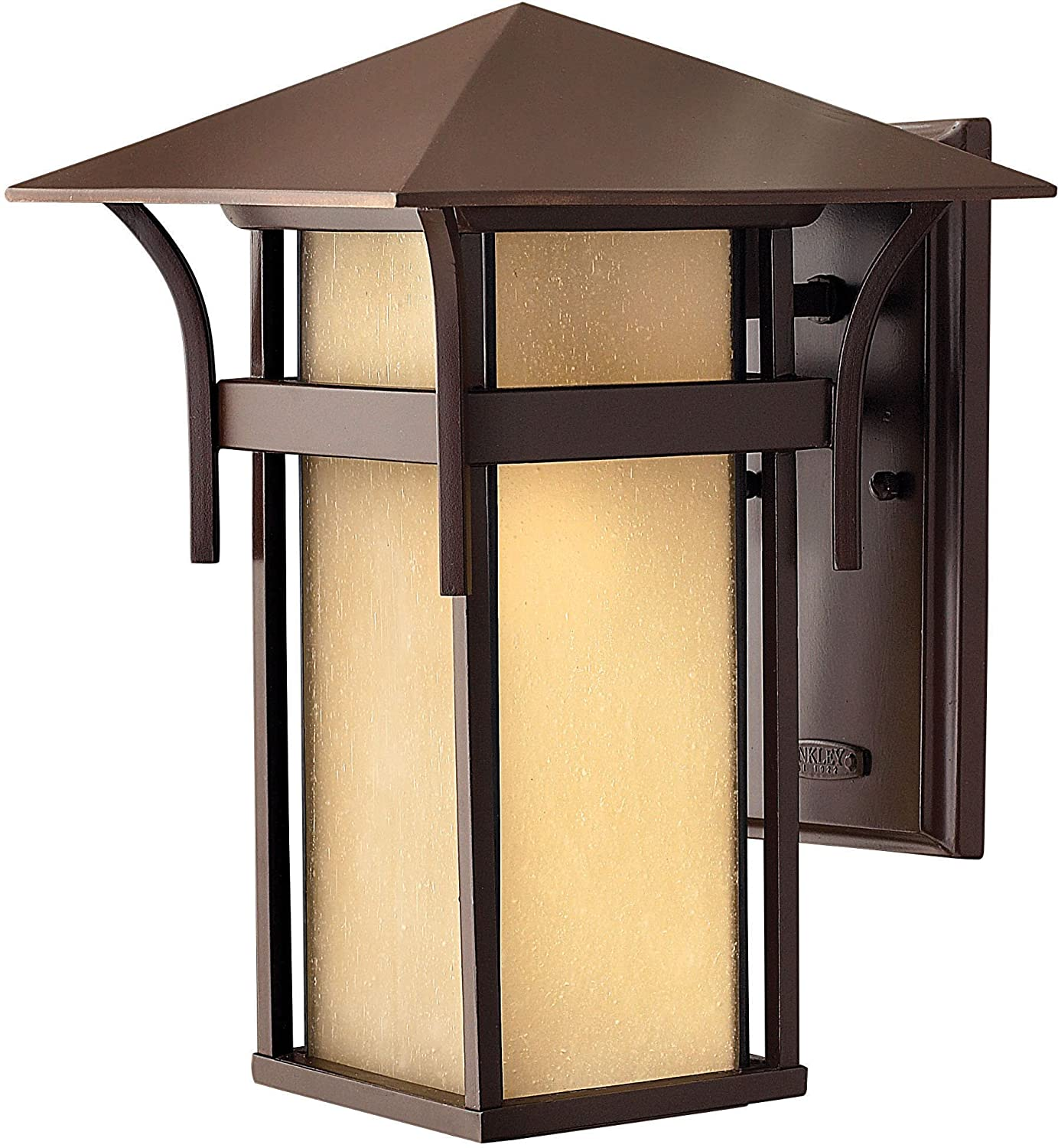 Hinkley 2574AR, Harbor Outdoor Wall Sconce Lighting, 60 Total Watts, Bronze    Wall Porch Lights   Amazon.com
