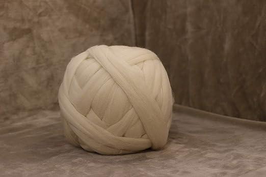 Mkonlineshop 100 Merino Wolle Chunky Wool Kammzug Kammgarn