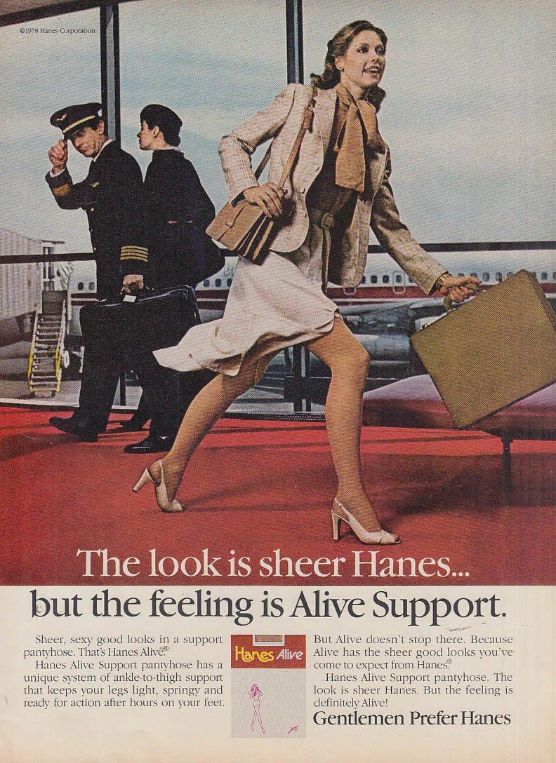 Magazine pantyhose ads