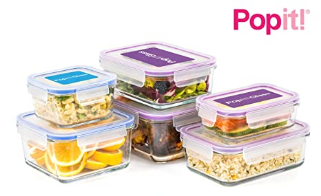 Amazon Glass Meal Prep Containers 12 Piece Set Borosilicate