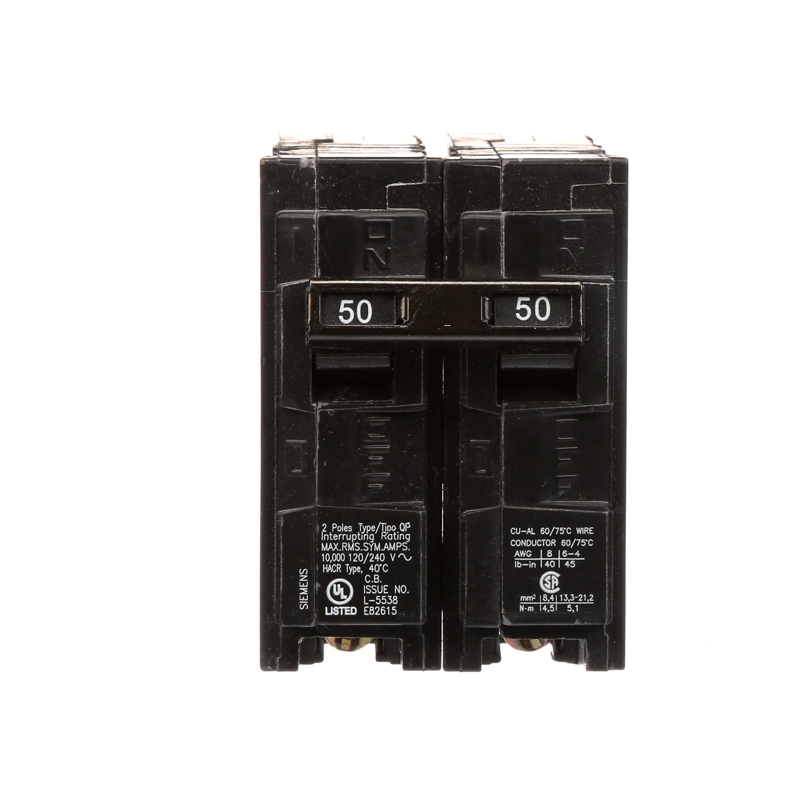 Q250 50-Amp Double Pole Type QP Circuit Breaker by Siemens (Image #2)