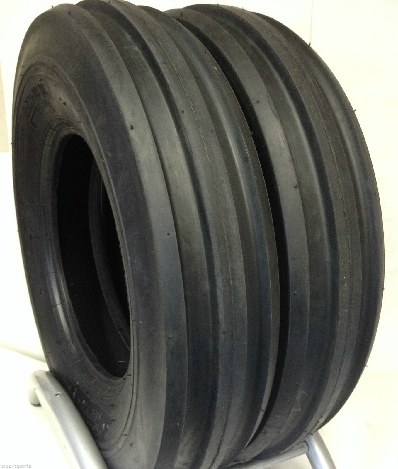 Set of Two 7.50-16 Samson Tri Rib F2 Front Tractor Tires 8 Ply Rated