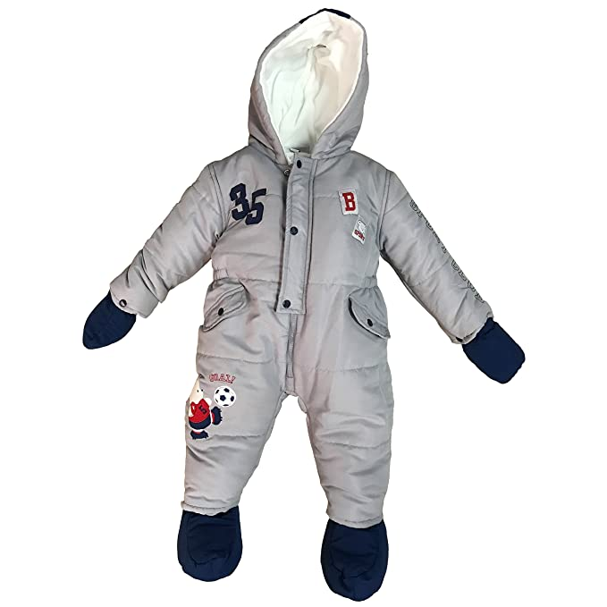 61380c7d92 termotuta tuta imbottita per neonato bambino BIDIBIMBO tuta neve art. TT800/ A (grigio
