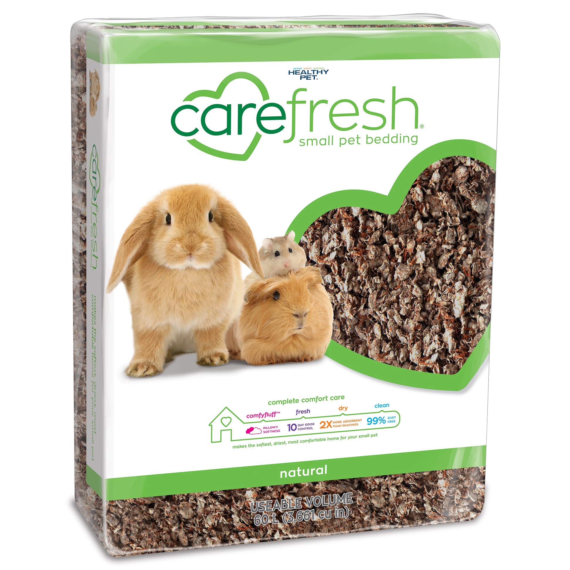 Carefresh Complete Pet Bedding, 60 L, Natural by Carefresh