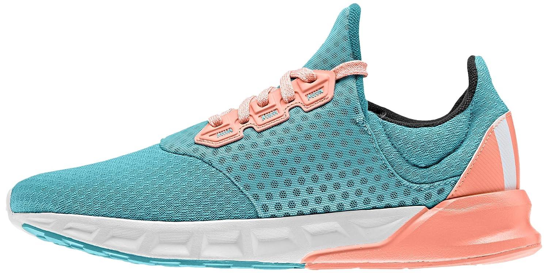 adidas Falcon Elite 5 XJ, Chaussures de Running Mixte Bébé, Vert/Blanc/Rouge (Vert Impact/Blanc Footwear/Rayon de Soleil), 38 EU