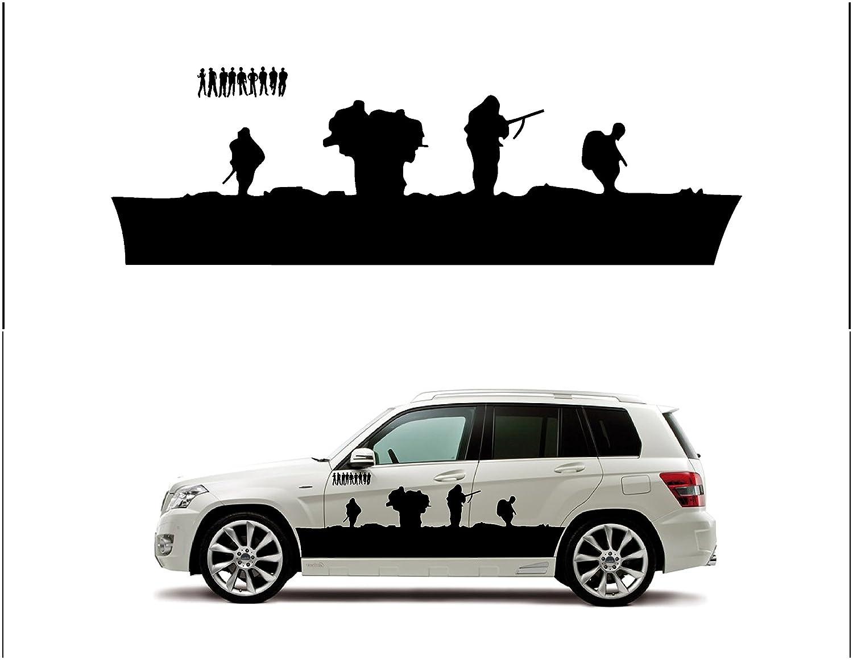 Amazon com combat soldier the soldier silhouette design simple unique abstract automotive