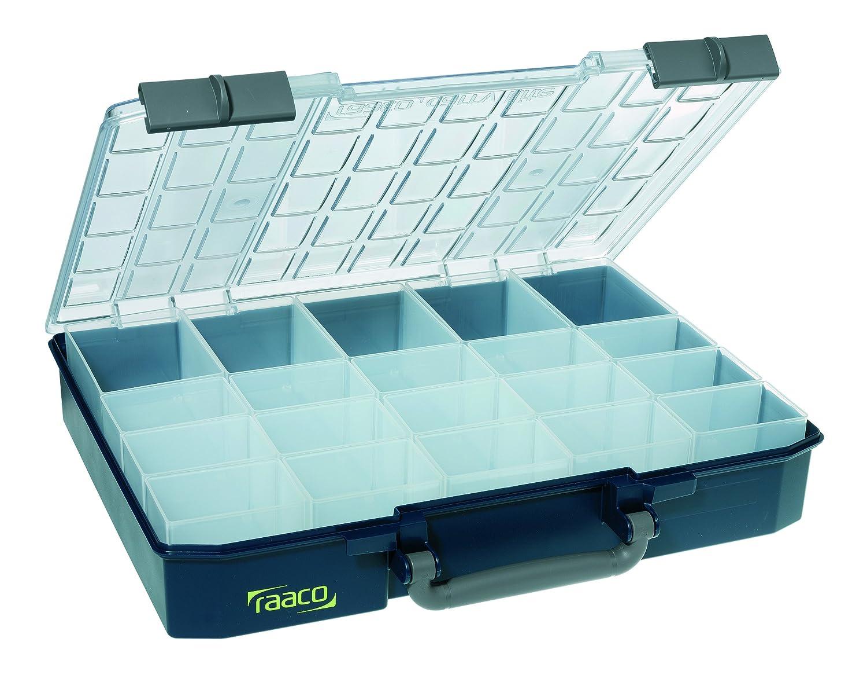 raaco Sortimentskoffer CarryLite 80, 5 x 10-20, blau, 136334 138543