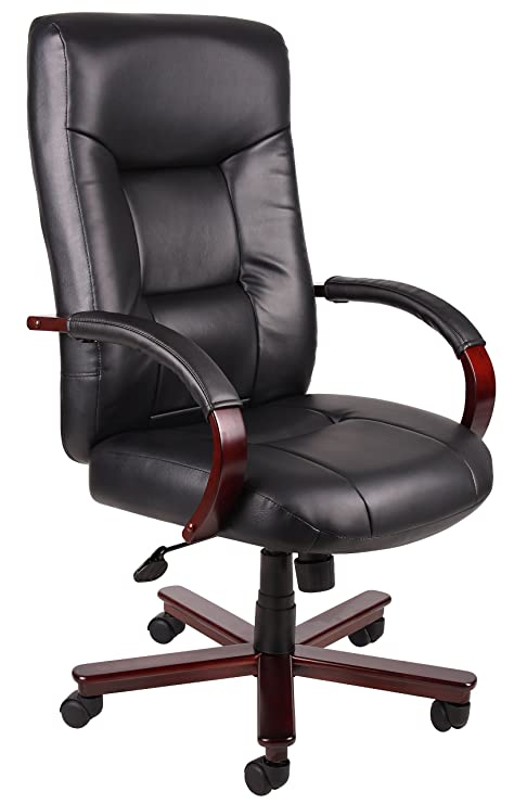 Amazon.com: BOSS Executive piel Silla De Respaldo Alto, No ...