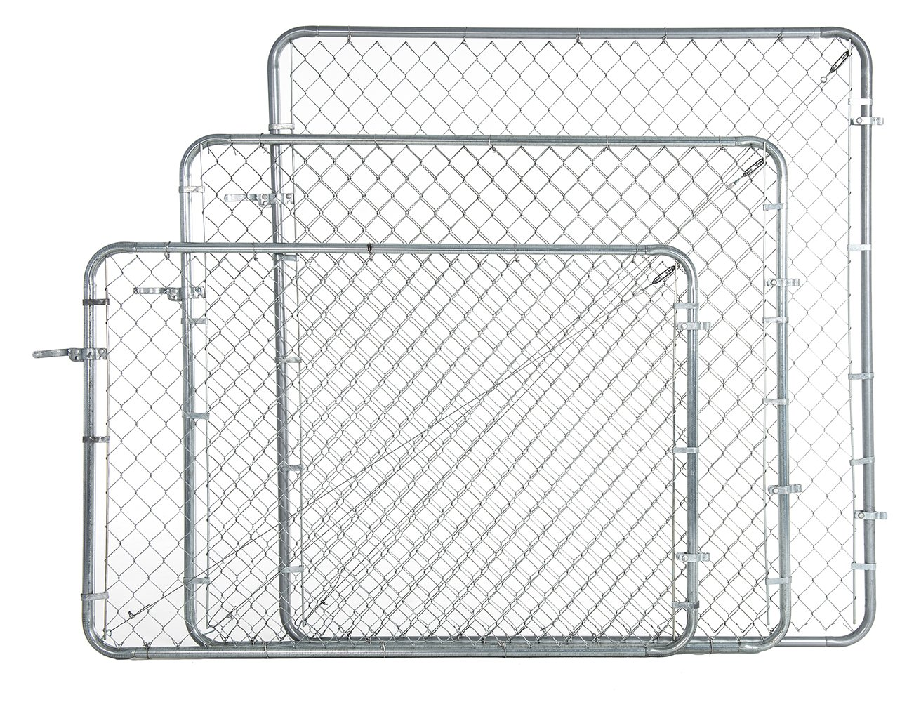 Fit-Right Chain Link Fence Walk-through Gate Kit (24''-72'' wide x 4' high) by Adjust-A-Gate (Image #2)