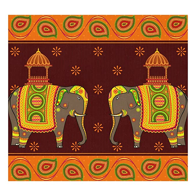 Amazon.com: sunlome decorado elefante indio patrón ...