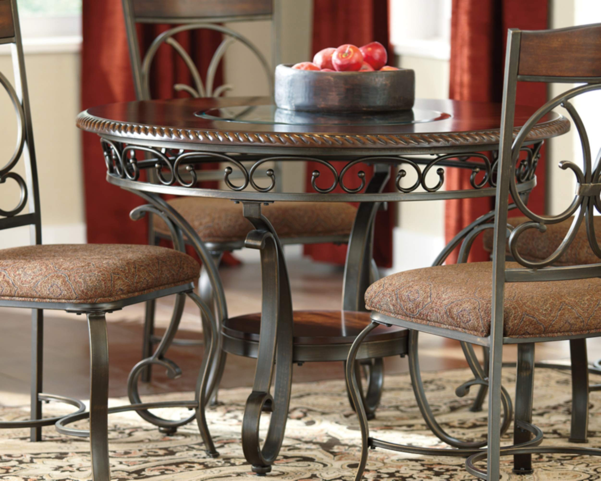 Ashley Furniture Signature Design - Glambrey Dining Room Table - Round - Brown by Signature Design by Ashley (Image #2)