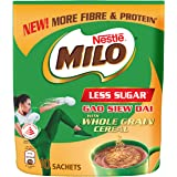 Milo Less Sugar with Whole Grain Cereal, 36g, (Pack of 10)