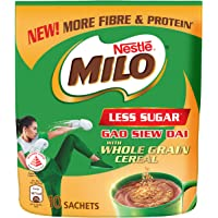 Milo Less Sugar with Whole Grain Cereal, 36g (Pack of 10)