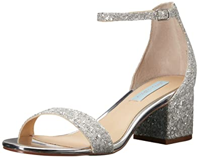Betsey Johnson Womens Gemmyyv Silver Multi - Sandals