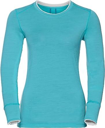 Odlo Suw Top Crew Neck L/S Natural - Camiseta Térmica Mujer: Amazon.es: Ropa y accesorios
