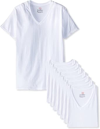 Hanes Mens 2-Pack V-Neck T-Shirt