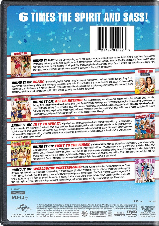 Amazon.com: Bring It On: 6-Movie Cheer Pack: Kirsten Dunst ...