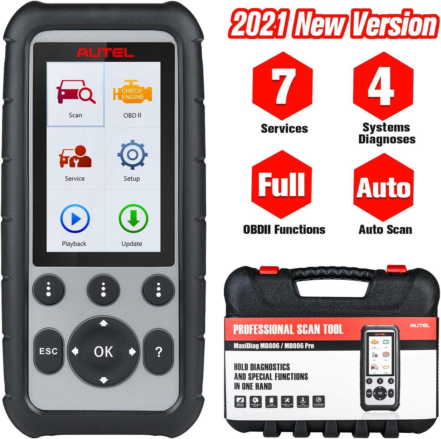 Autel Maxidiag Md806 Pro Obd2 Diagnosegerät Obdii Scanner Alle Systeme Mit Öl Reset Epb Sas Dpf Bms Gasgriff Auto