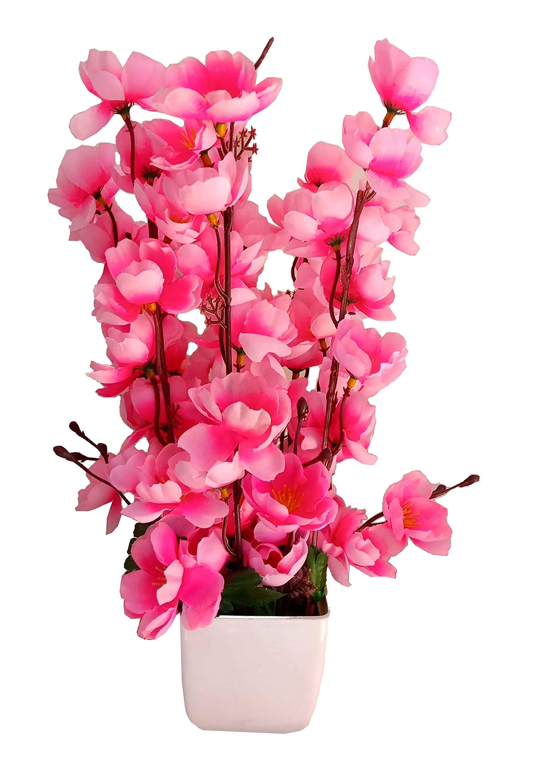 Hyperboles Artificial Pink Flower Home Decorative Orchid Blossom Flower Vase Pvc Plastic Wooden Pot 12inch 30cm Pink Buy Online In Grenada At Grenada Desertcart Com Productid 124284312