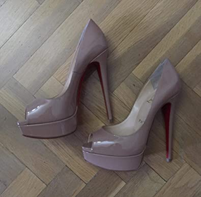 81fab90f3b8 Amazon.com | Christian Louboutin Women's 1171074N015 Pink Leather ...
