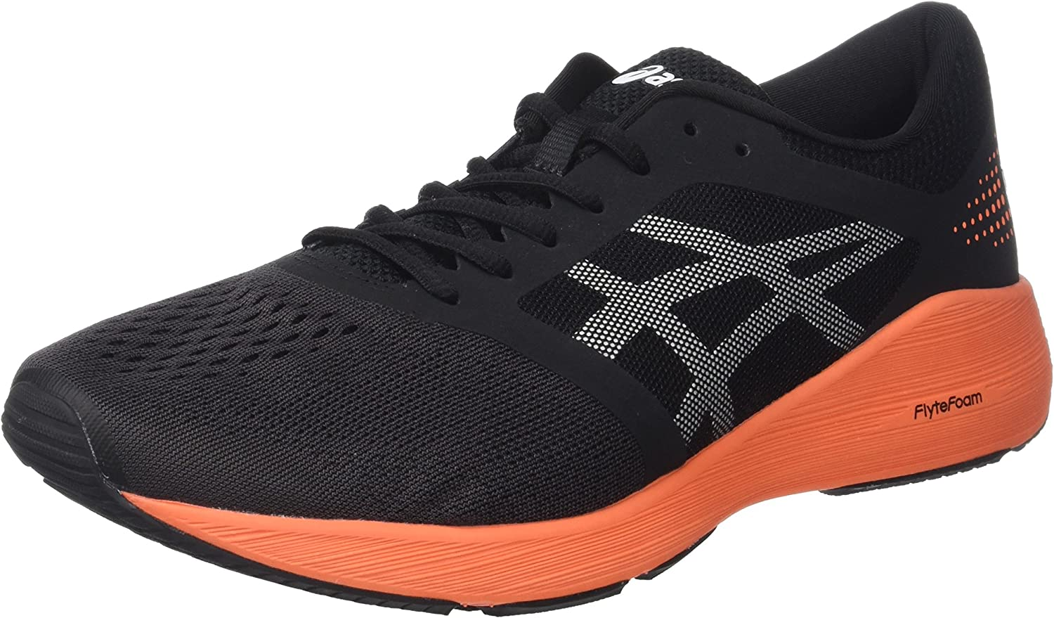 Asics T7D2N9030, Zapatillas de Running para Hombre, Negro (Black/Hot Orange/White), 45 EU: Amazon.es: Zapatos y complementos