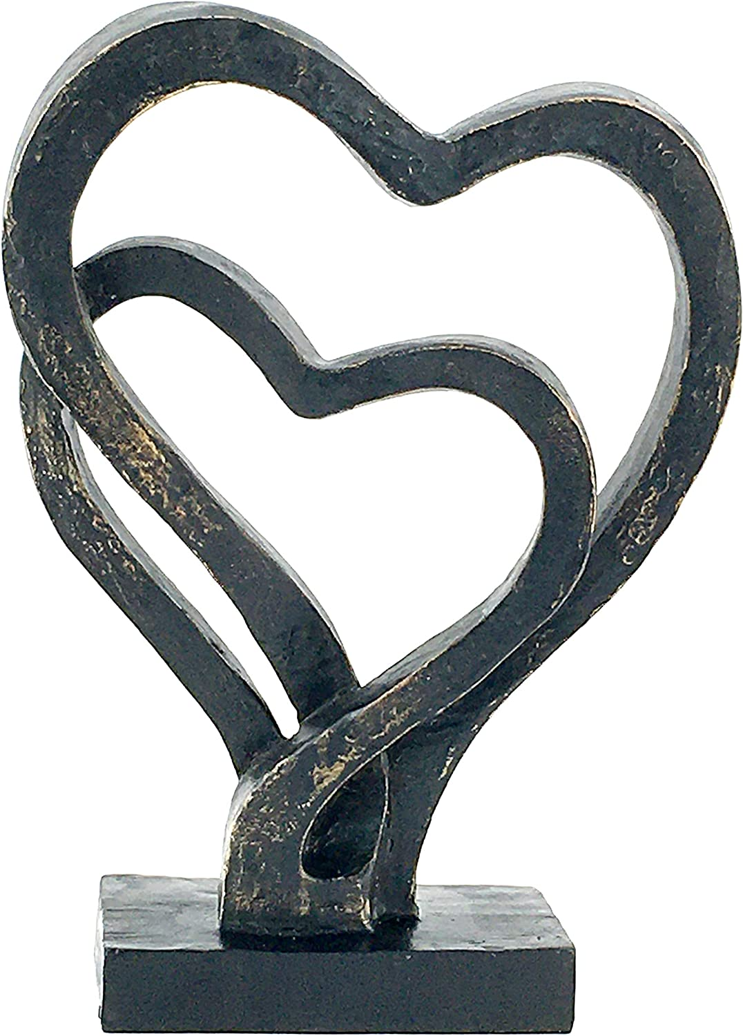 Bellaa 24827 Hearts Sculpture Soulmates Lovers Bond of Marriage Statuettes Always Love 11 Inches